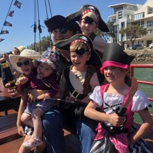 Family on the Pirate Ship