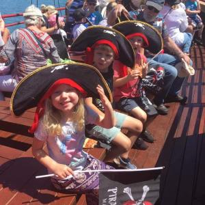 on a cruise on the Pirate Ship Mandurah